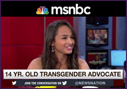 MSNBC - Tamron Hall: 14-year-old becomes nation's leading advocate for transgender rights